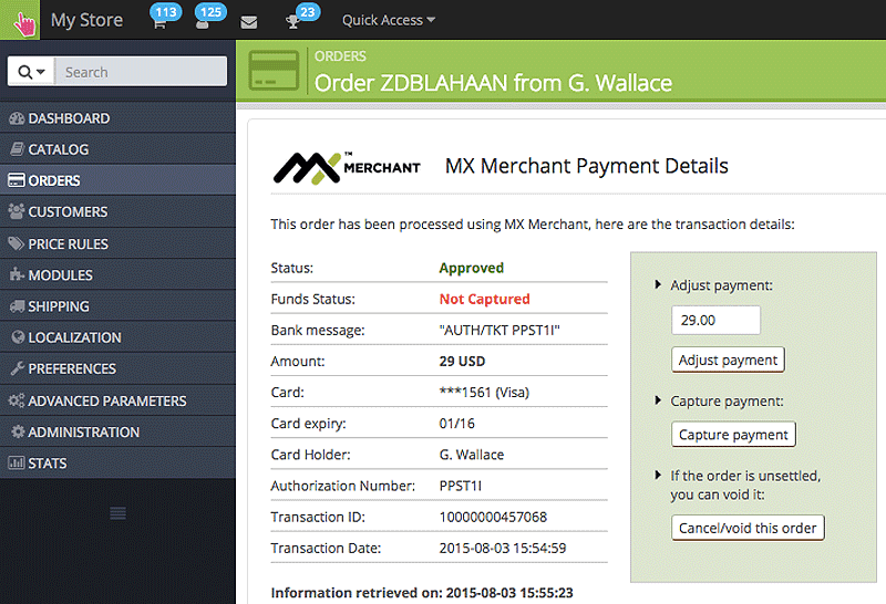 MX Merchant for Website Sales, Ordering and Payment